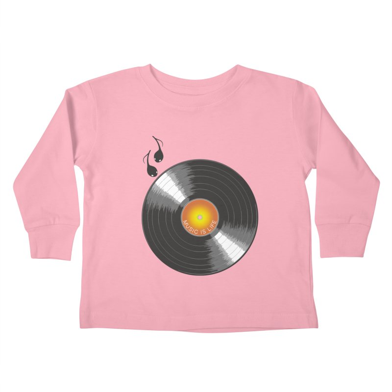Music is Life Kids Toddler Longsleeve T-Shirt by nickmanofredda's Artist Shop