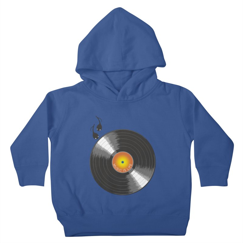 Music is Life Kids Toddler Pullover Hoody by nickmanofredda's Artist Shop