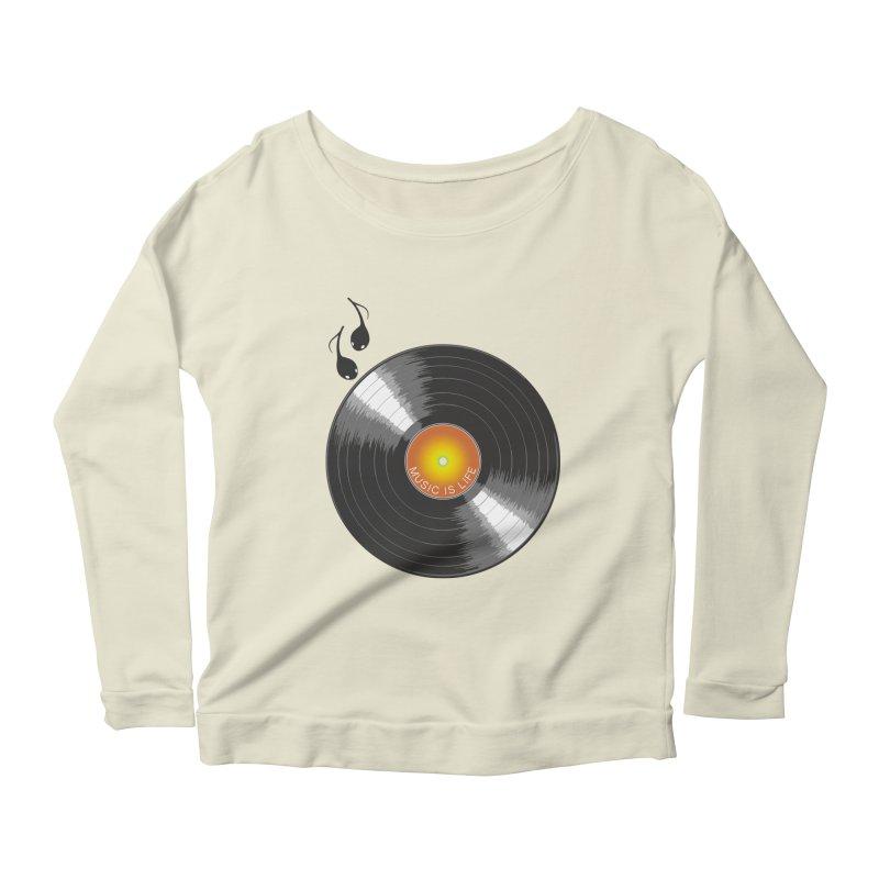 Music is Life Women's Scoop Neck Longsleeve T-Shirt by nickmanofredda's Artist Shop