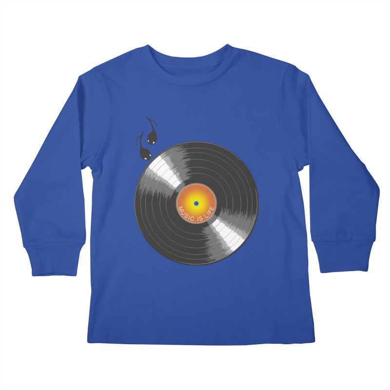 Music is Life Kids Longsleeve T-Shirt by nickmanofredda's Artist Shop