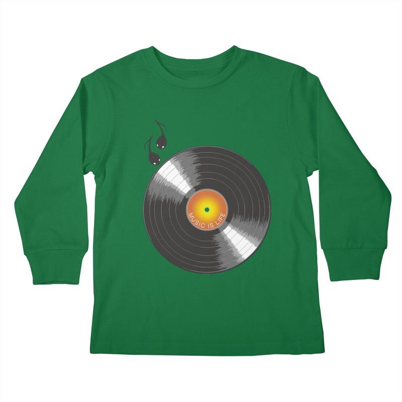Music is Life Kids Longsleeve T-Shirt by nickmanofredda's Artist Shop