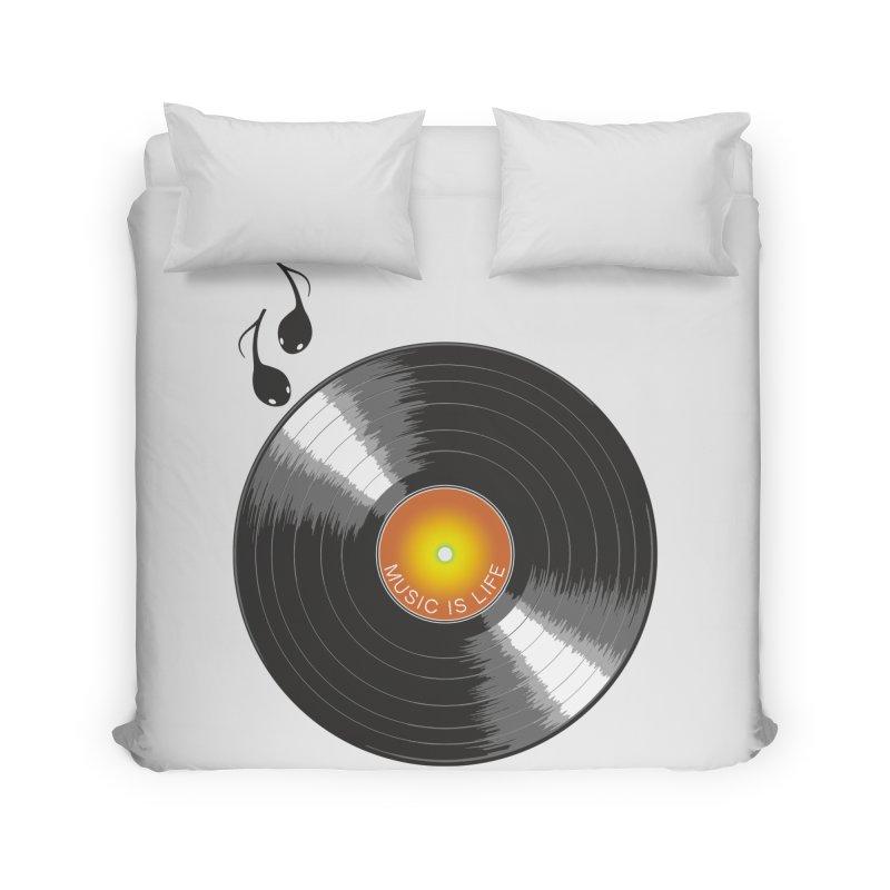 Music is Life Home Duvet by nickmanofredda's Artist Shop