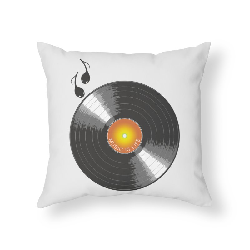 Music is Life Home Throw Pillow by nickmanofredda's Artist Shop