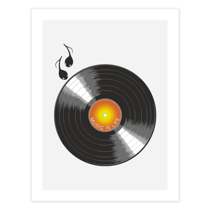 Music is Life Home Fine Art Print by nickmanofredda's Artist Shop