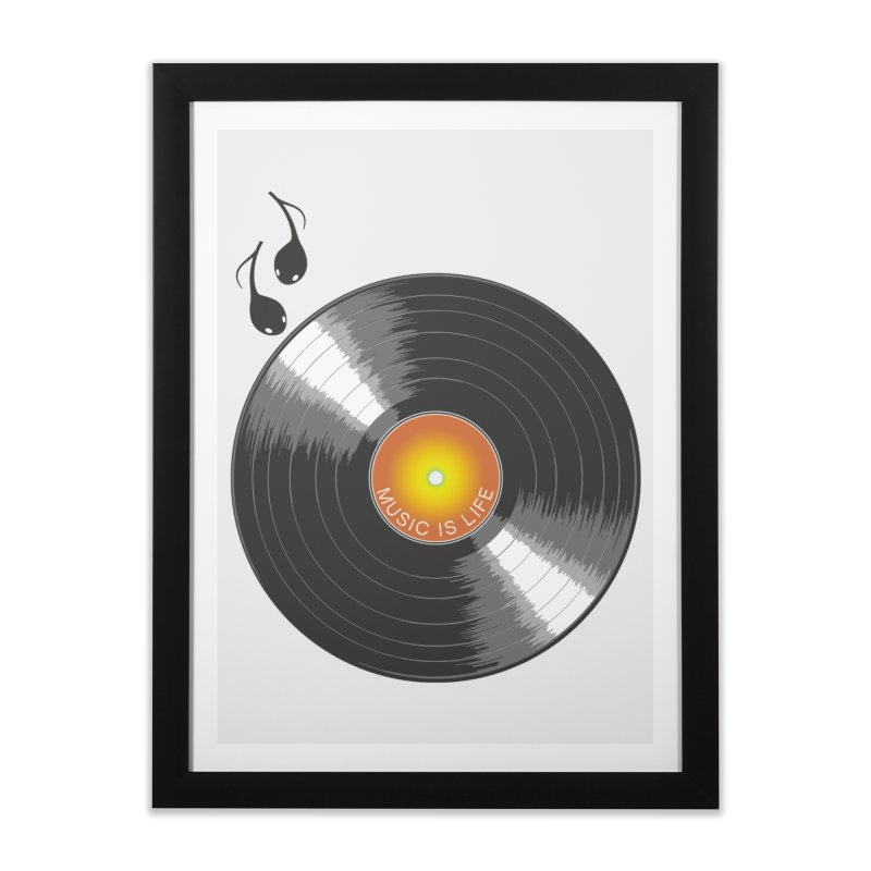 Music is Life Home Framed Fine Art Print by nickmanofredda's Artist Shop