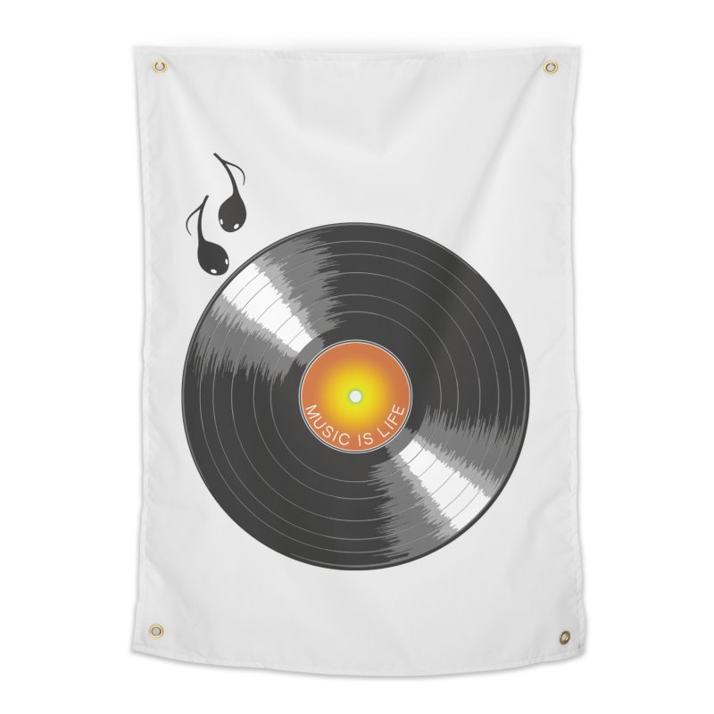 Music is Life Home Tapestry by nickmanofredda's Artist Shop
