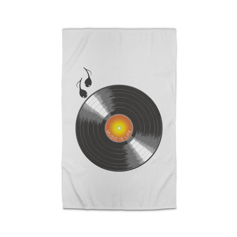 Music is Life Home Rug by nickmanofredda's Artist Shop