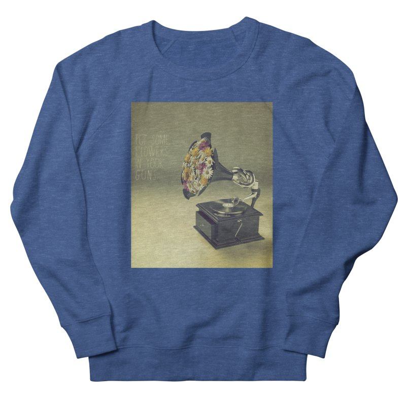 Put Some Flowers In Your Guns Men's Sweatshirt by nickmanofredda's Artist Shop