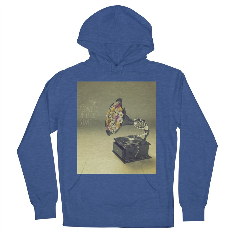 Put Some Flowers In Your Guns Women's Pullover Hoody by nickmanofredda's Artist Shop