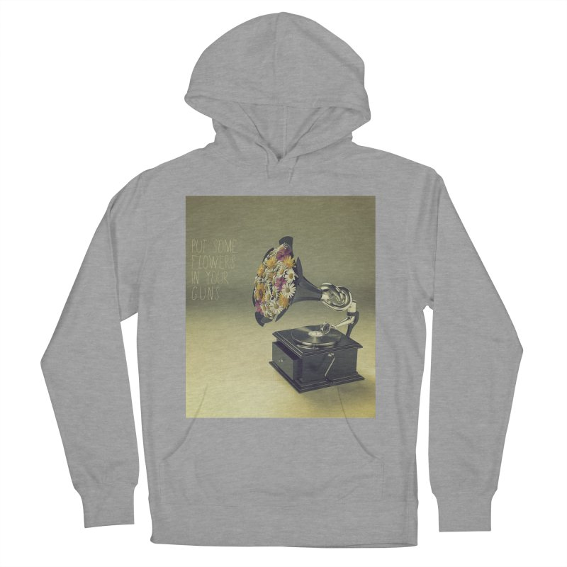 Put Some Flowers In Your Guns Women's French Terry Pullover Hoody by nickmanofredda's Artist Shop