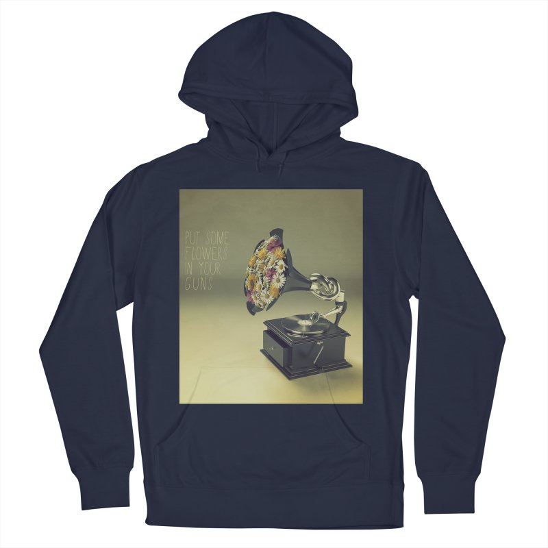 Put Some Flowers In Your Guns Men's Pullover Hoody by nickmanofredda's Artist Shop
