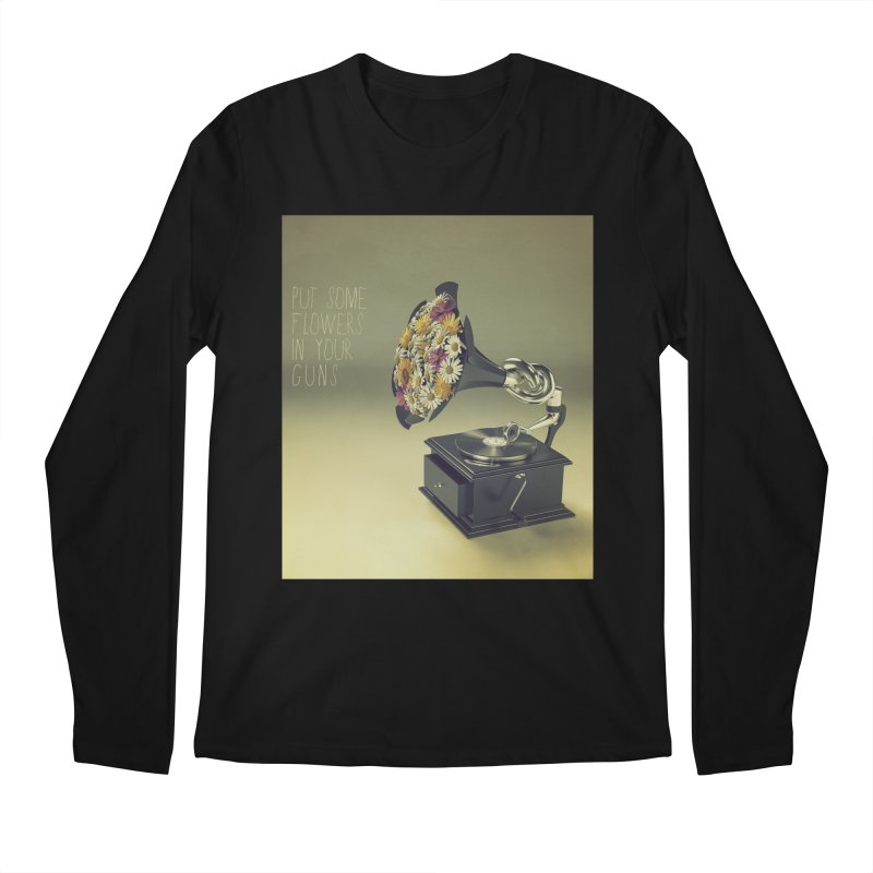 Put Some Flowers In Your Guns Men's Longsleeve T-Shirt by nickmanofredda's Artist Shop
