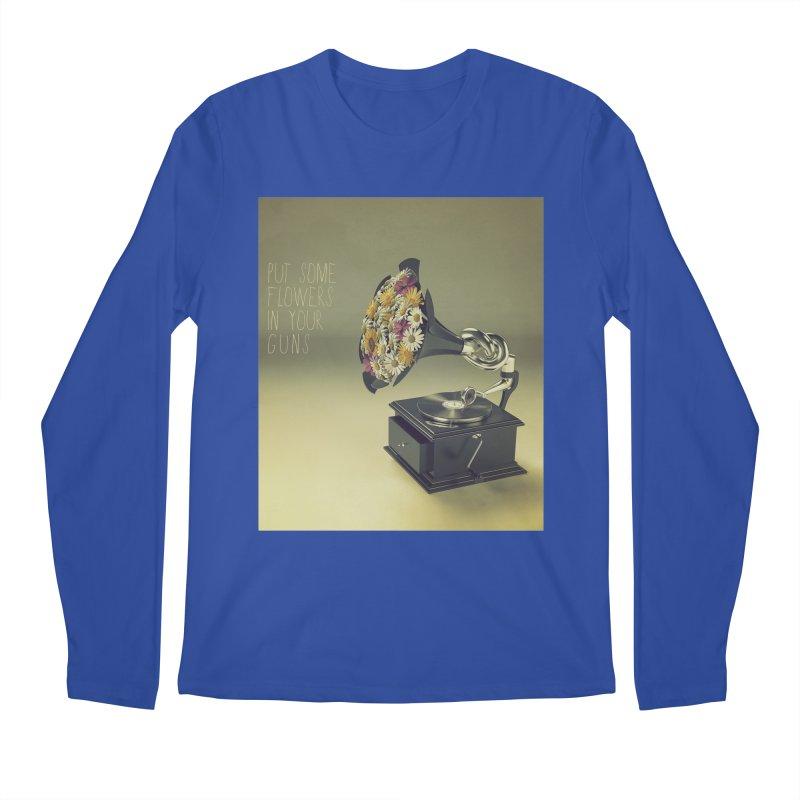 Put Some Flowers In Your Guns Men's Regular Longsleeve T-Shirt by nickmanofredda's Artist Shop