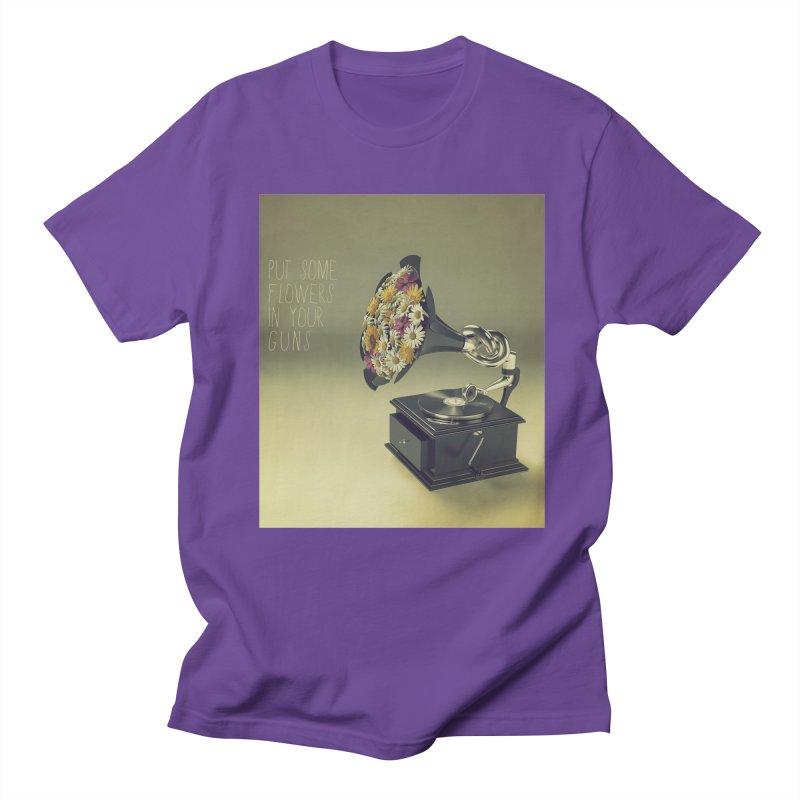 Put Some Flowers In Your Guns Men's T-Shirt by nickmanofredda's Artist Shop