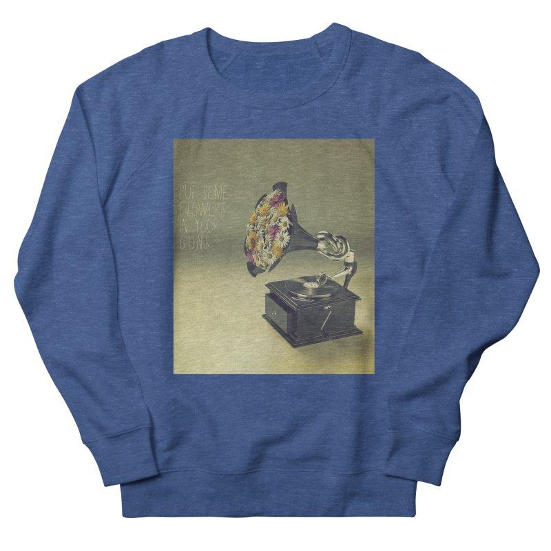 Put Some Flowers In Your Guns Women's Sweatshirt by nickmanofredda's Artist Shop