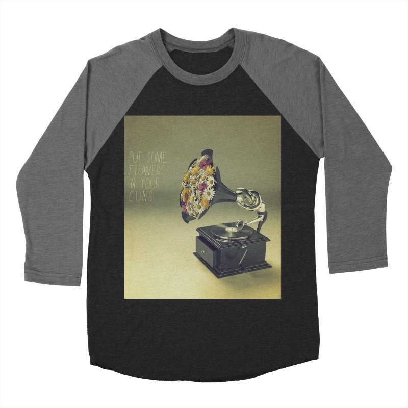 Put Some Flowers In Your Guns Women's Baseball Triblend T-Shirt by nickmanofredda's Artist Shop