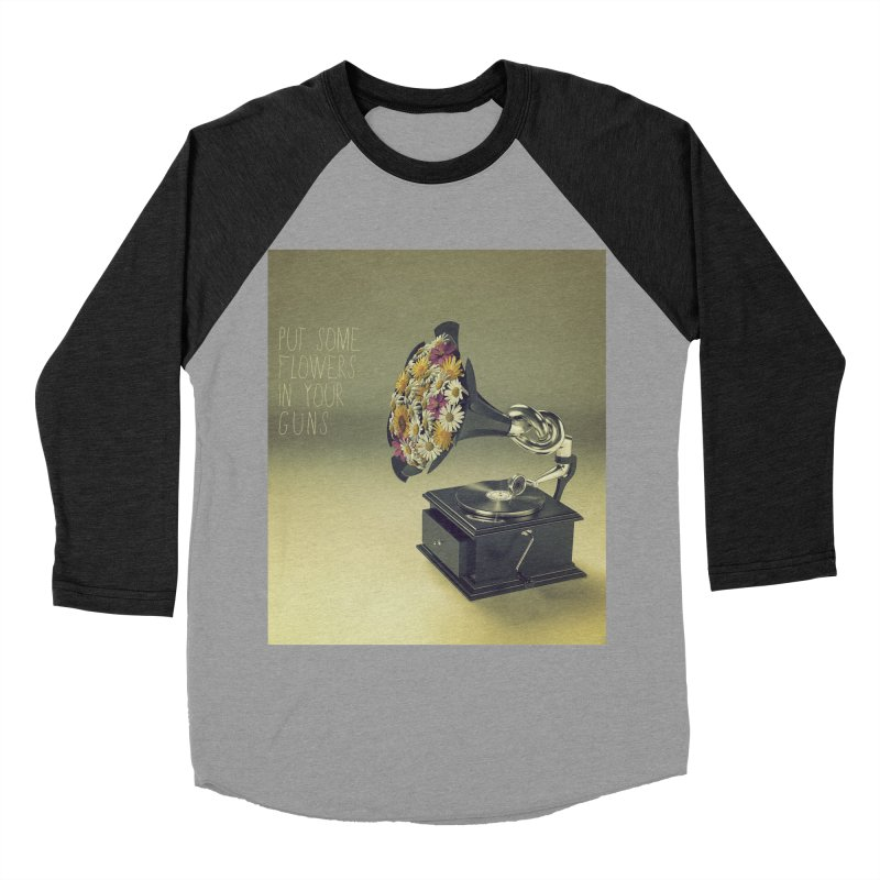 Put Some Flowers In Your Guns Women's Baseball Triblend Longsleeve T-Shirt by nickmanofredda's Artist Shop