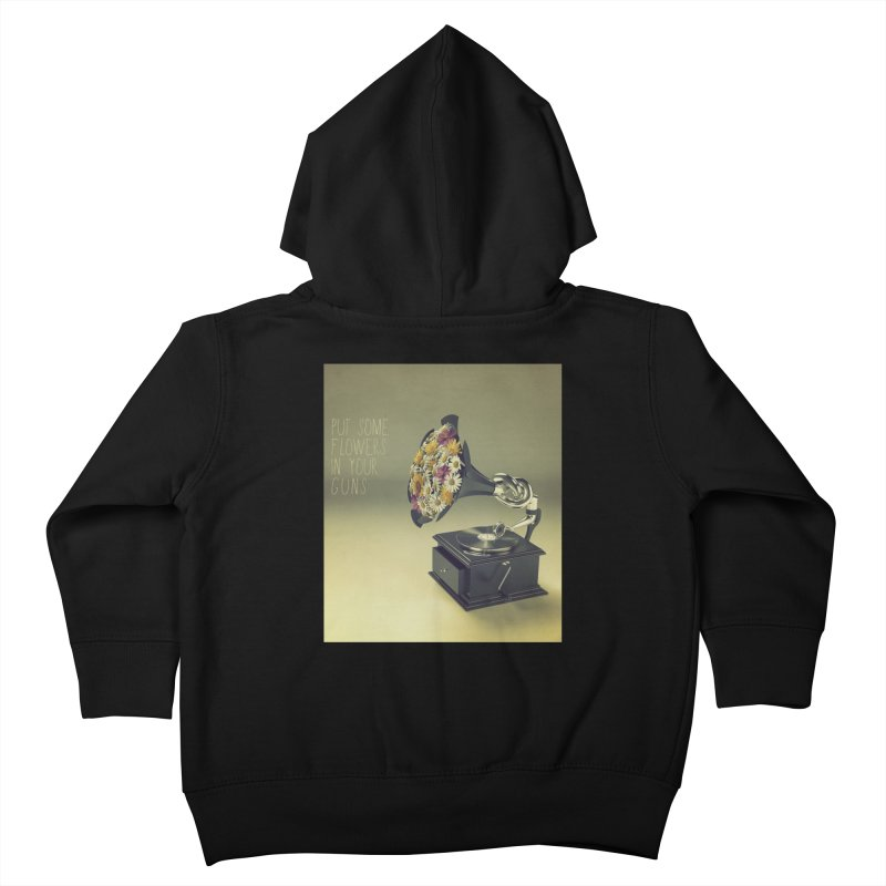 Put Some Flowers In Your Guns Kids Toddler Zip-Up Hoody by nickmanofredda's Artist Shop