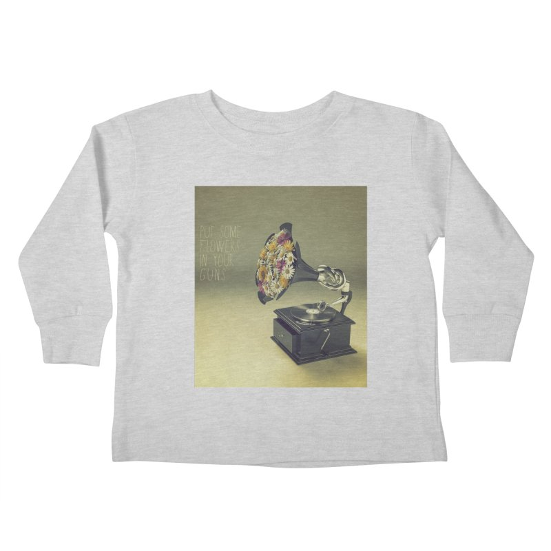 Put Some Flowers In Your Guns Kids Toddler Longsleeve T-Shirt by nickmanofredda's Artist Shop