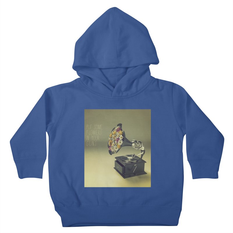 Put Some Flowers In Your Guns Kids Toddler Pullover Hoody by nickmanofredda's Artist Shop