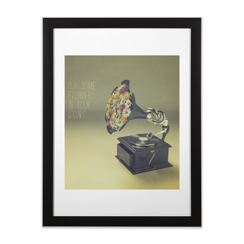 Put Some Flowers In Your Guns Home Framed Fine Art Print by nickmanofredda's Artist Shop