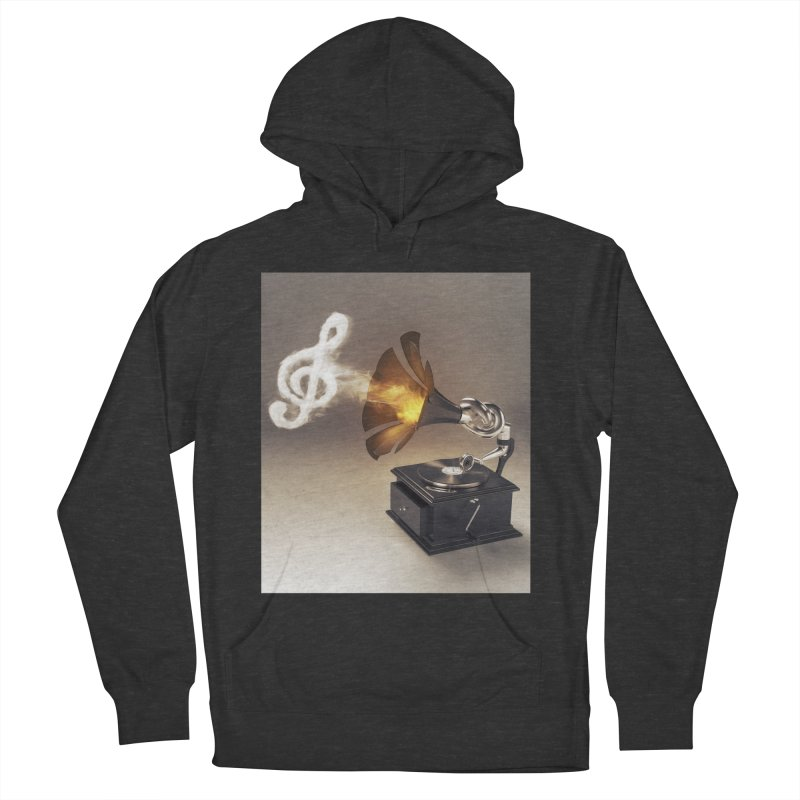 Let The Music Play Women's French Terry Pullover Hoody by nickmanofredda's Artist Shop