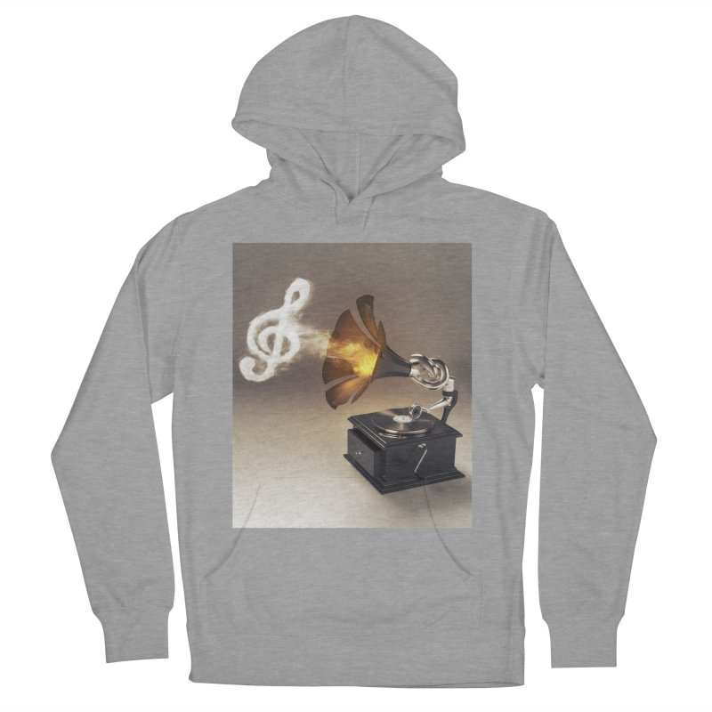 Let The Music Play Men's French Terry Pullover Hoody by nickmanofredda's Artist Shop