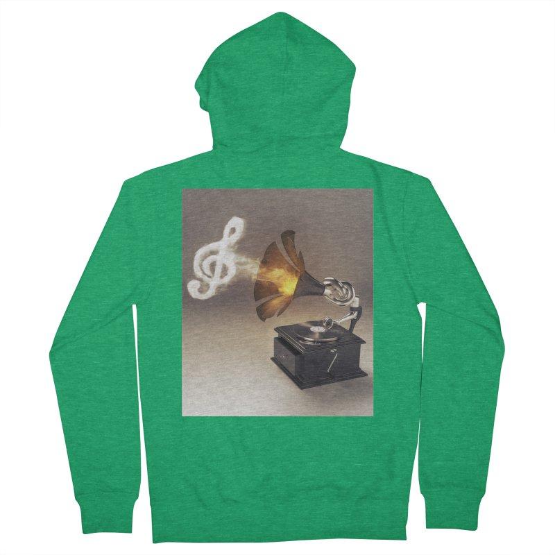 Let The Music Play Women's Zip-Up Hoody by nickmanofredda's Artist Shop