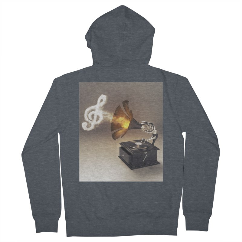 Let The Music Play Women's Zip-Up Hoody by nickmanofredda's Artist Shop