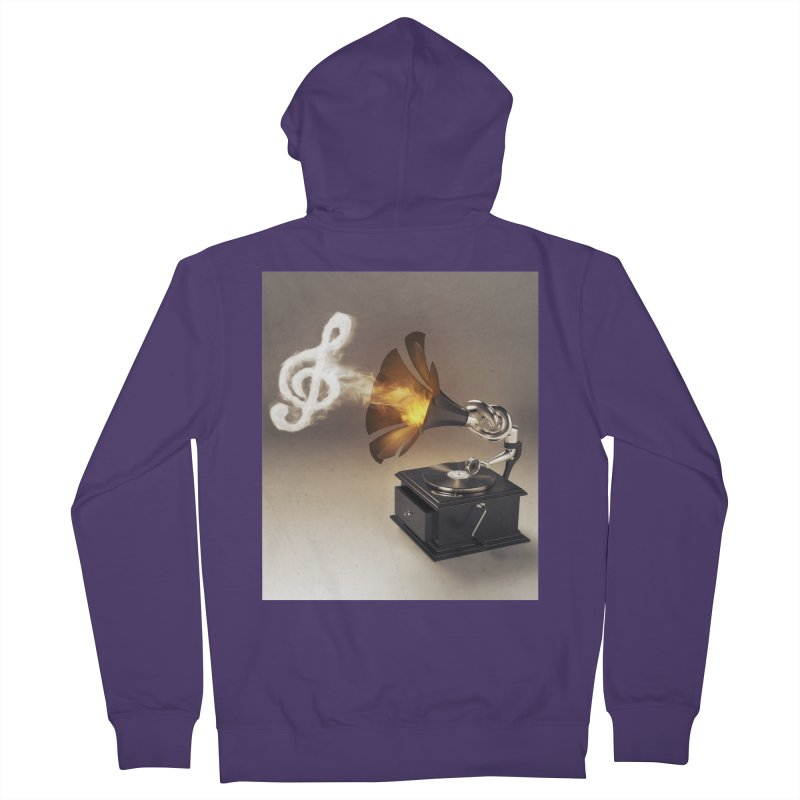 Let The Music Play Women's French Terry Zip-Up Hoody by nickmanofredda's Artist Shop