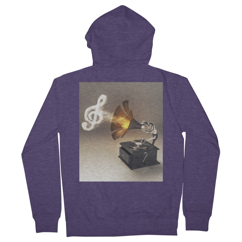 Let The Music Play Men's French Terry Zip-Up Hoody by nickmanofredda's Artist Shop