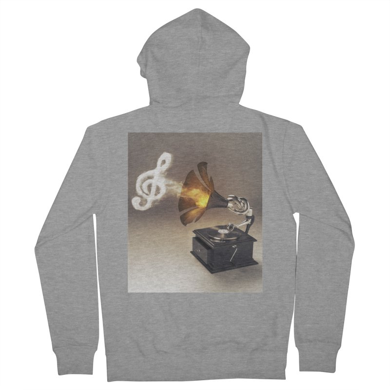Let The Music Play Men's Zip-Up Hoody by nickmanofredda's Artist Shop