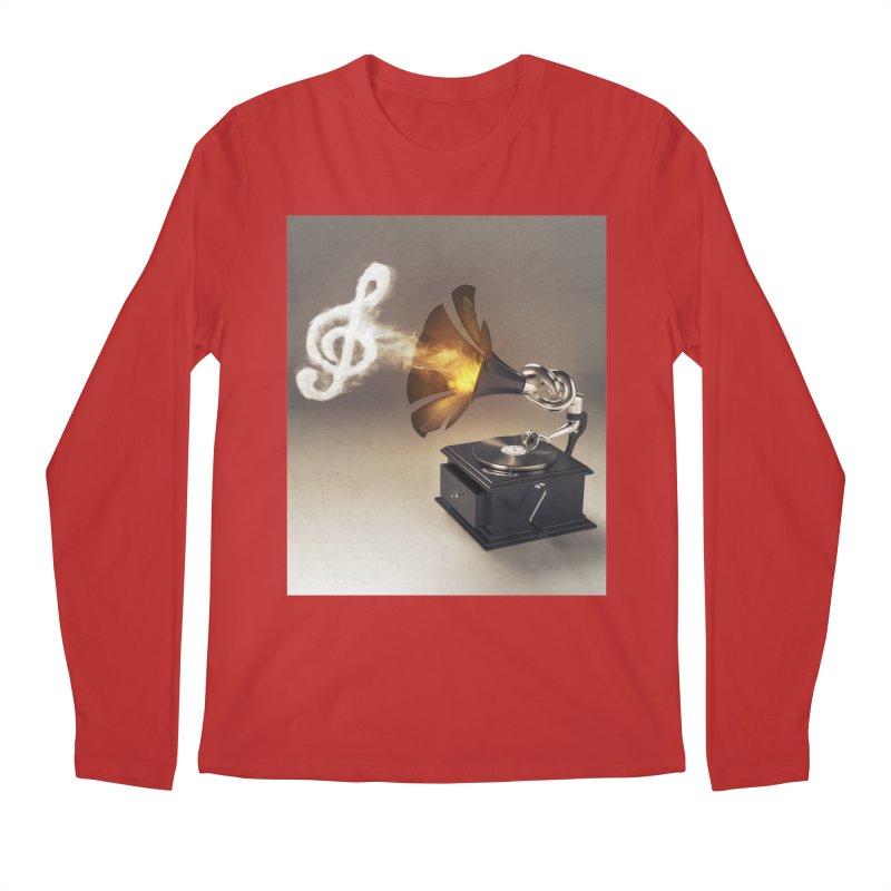 Let The Music Play Men's Regular Longsleeve T-Shirt by nickmanofredda's Artist Shop