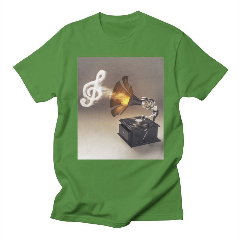 Let The Music Play Men's T-shirt by nickmanofredda's Artist Shop