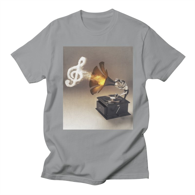 Let The Music Play Men's Regular T-Shirt by nickmanofredda's Artist Shop