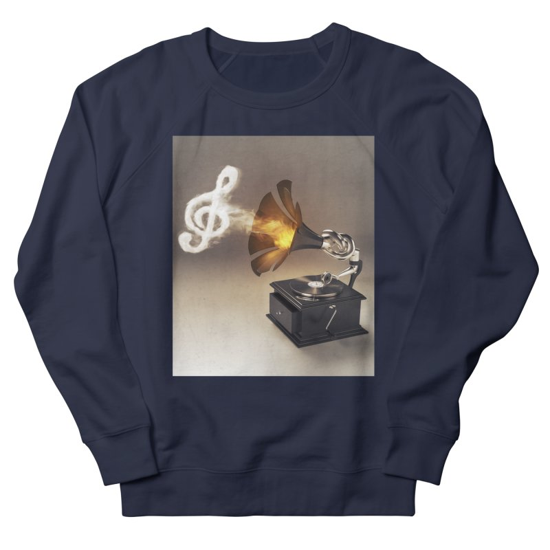 Let The Music Play Women's French Terry Sweatshirt by nickmanofredda's Artist Shop