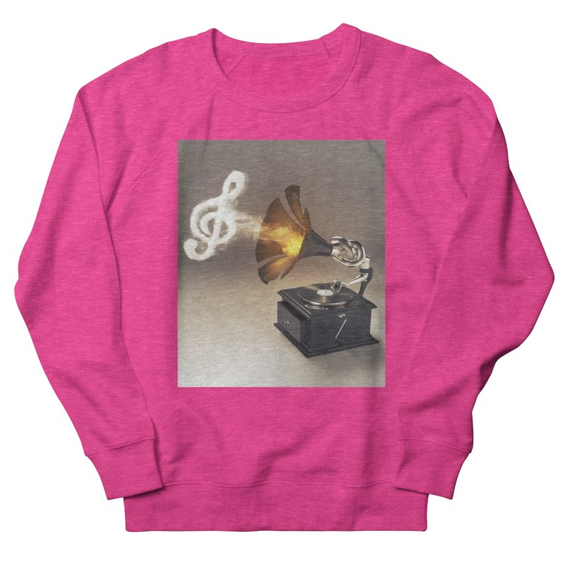 Let The Music Play Men's French Terry Sweatshirt by nickmanofredda's Artist Shop