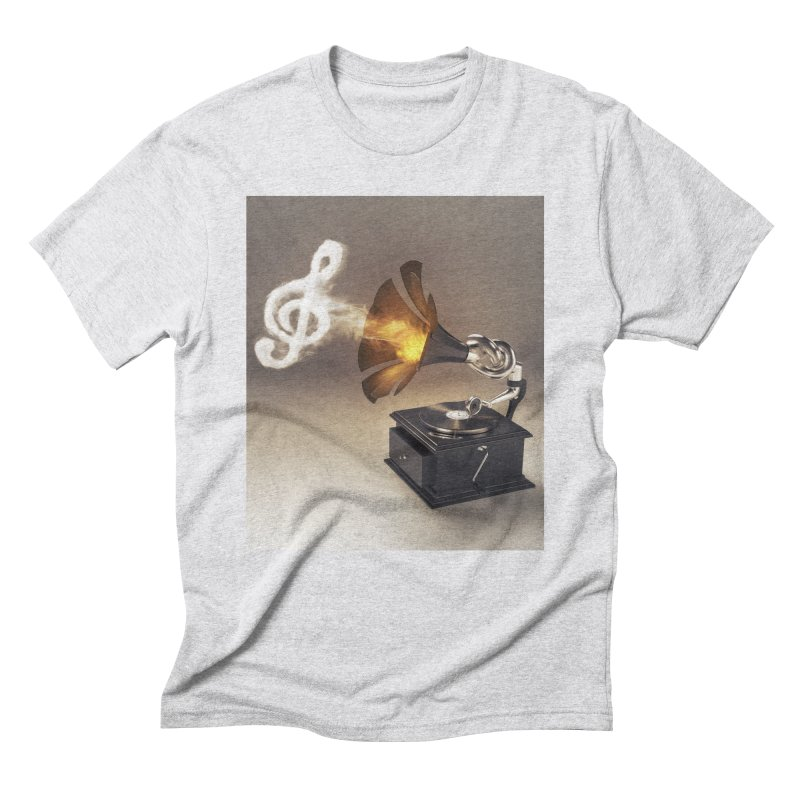 Let The Music Play Men's Triblend T-Shirt by nickmanofredda's Artist Shop