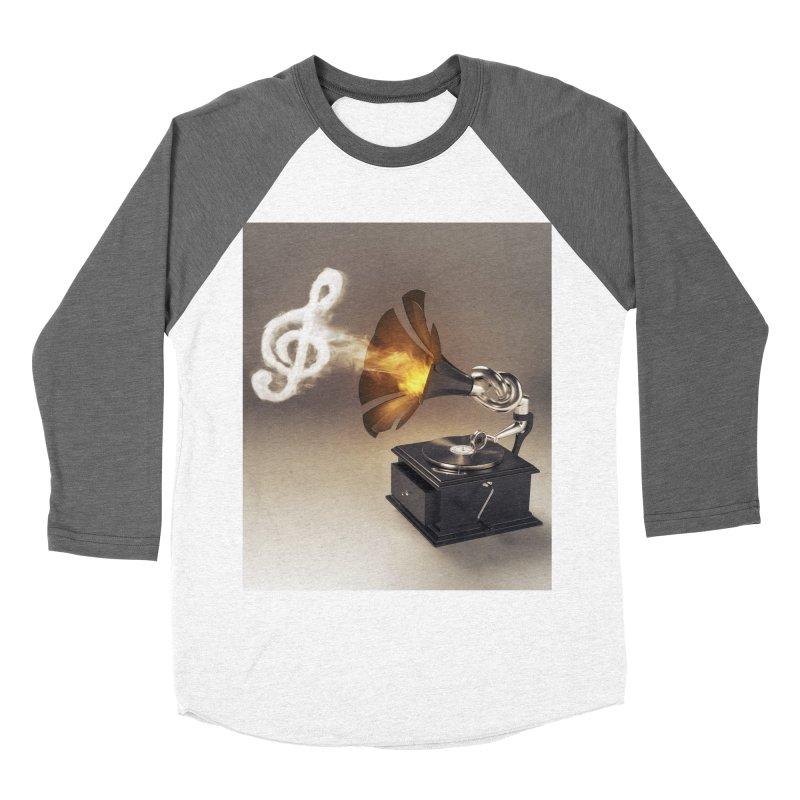 Let The Music Play Women's Baseball Triblend Longsleeve T-Shirt by nickmanofredda's Artist Shop