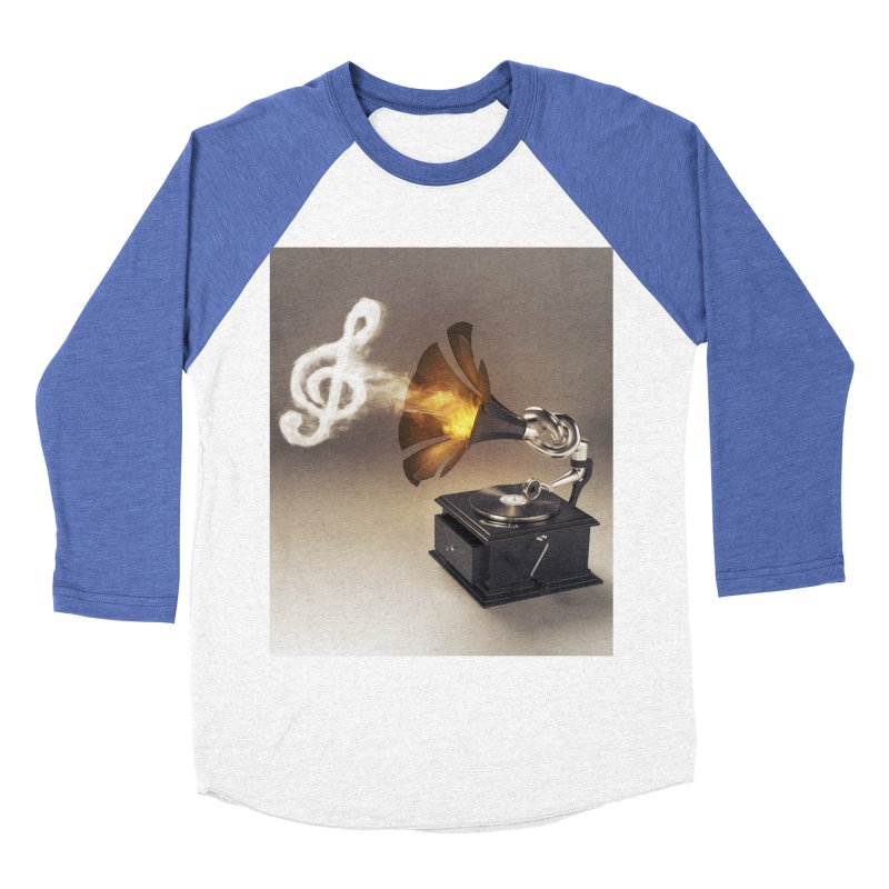 Let The Music Play Men's Baseball Triblend Longsleeve T-Shirt by nickmanofredda's Artist Shop