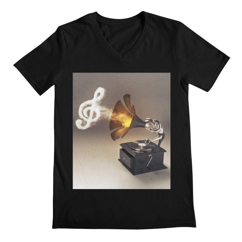Let The Music Play Men's V-Neck by nickmanofredda's Artist Shop
