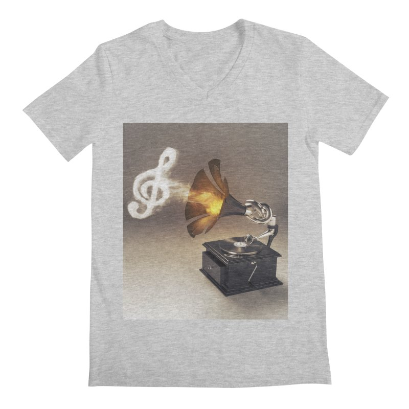 Let The Music Play Men's Regular V-Neck by nickmanofredda's Artist Shop
