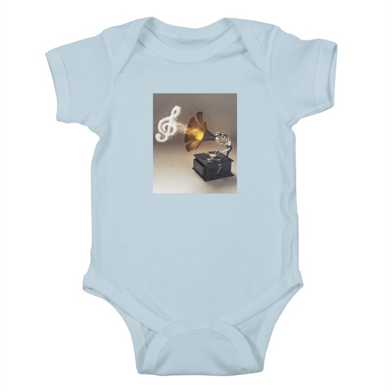 Let The Music Play Kids Baby Bodysuit by nickmanofredda's Artist Shop