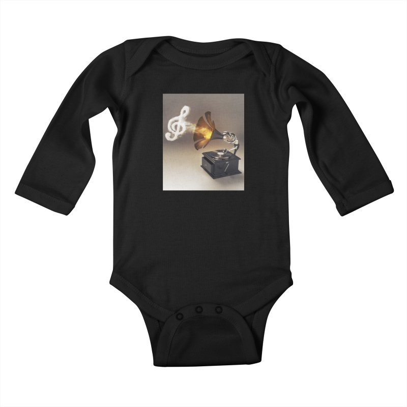 Let The Music Play Kids Baby Longsleeve Bodysuit by nickmanofredda's Artist Shop
