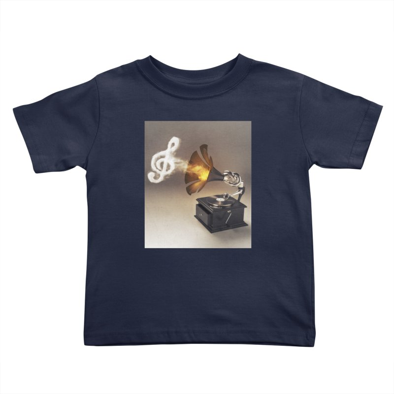 Let The Music Play Kids Toddler T-Shirt by nickmanofredda's Artist Shop