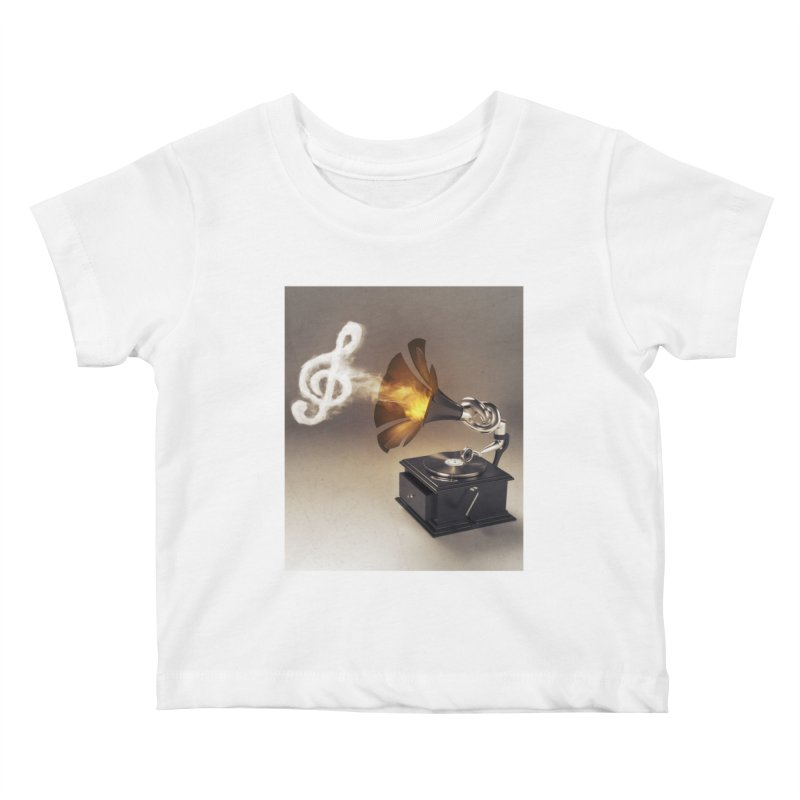 Let The Music Play Kids Baby T-Shirt by nickmanofredda's Artist Shop