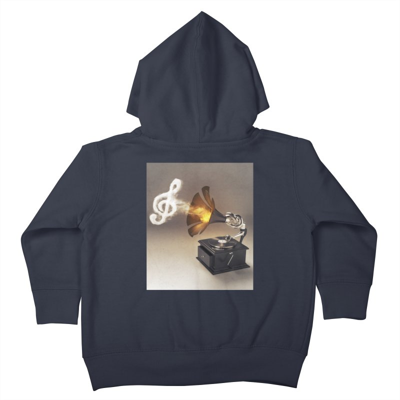 Let The Music Play Kids Toddler Zip-Up Hoody by nickmanofredda's Artist Shop