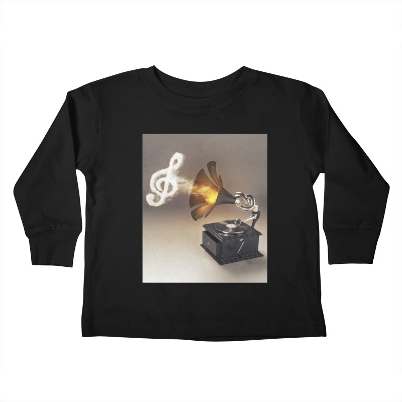 Let The Music Play Kids Toddler Longsleeve T-Shirt by nickmanofredda's Artist Shop