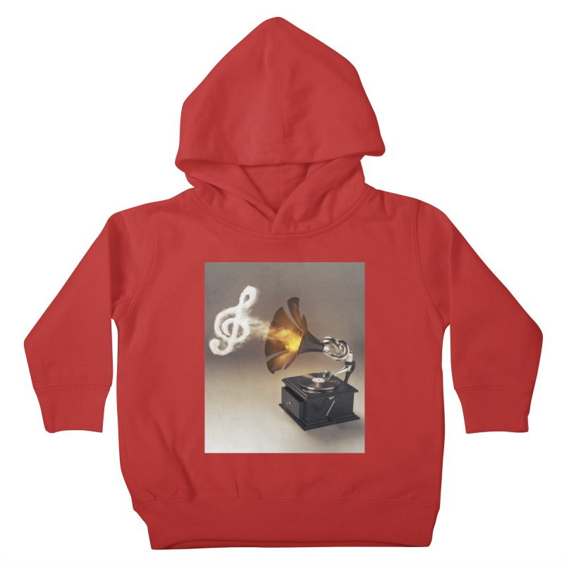 Let The Music Play Kids Toddler Pullover Hoody by nickmanofredda's Artist Shop
