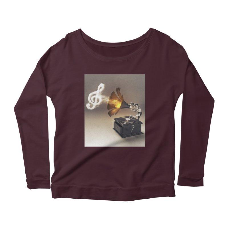 Let The Music Play Women's Scoop Neck Longsleeve T-Shirt by nickmanofredda's Artist Shop